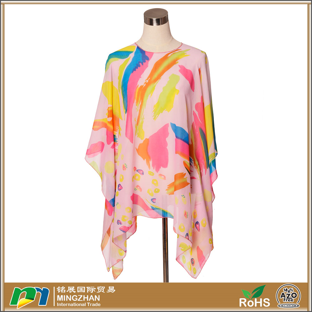 Womens Summer Colorful Floral Long Sunscreen Chiffon Scarf Wraps Shawl