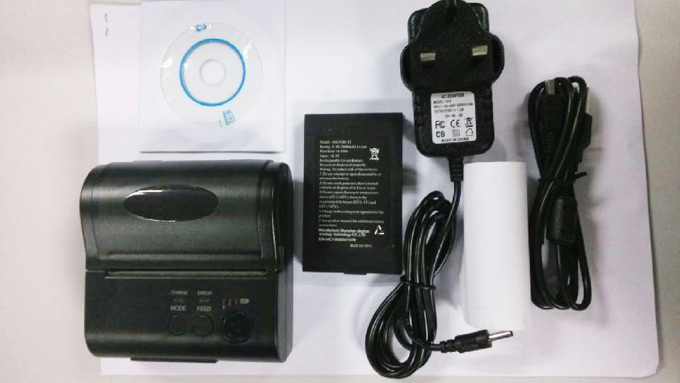 New 58mm bluetooth receipt thermal printer bluetooth printer USB + serial port (Windows + android+IOS)