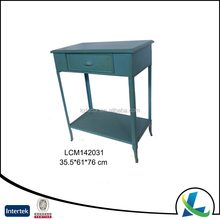 Wholesale Rectangle Teal Vintage Metal Iron Side Table