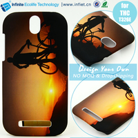 Wholesale custom 3D water transfer print small plastic accessory cute mobile shell phone case cover for htc desire 620 526g m7