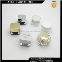 Aike packaging 50g round acrylic cosmetic jars 5ml 10ml double wall plastic cream jar container 3ml AS jar