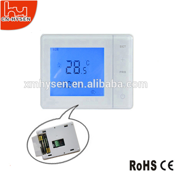 large screen digital auto programmable thermostat for electric heating