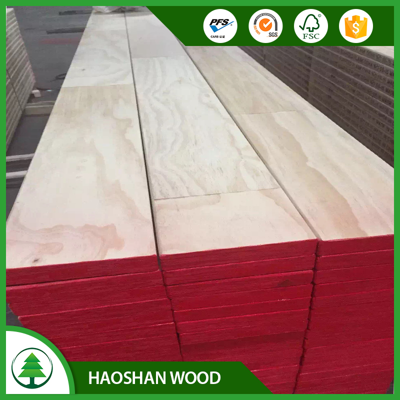 LinYi factory Cheap price pine LVL wood beam price of laminated plywood for fabrication pallets & boxes