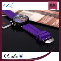 2014 Crazy selling popular silicone watches14 pantone colors jelly bands rubber wristband watch for children