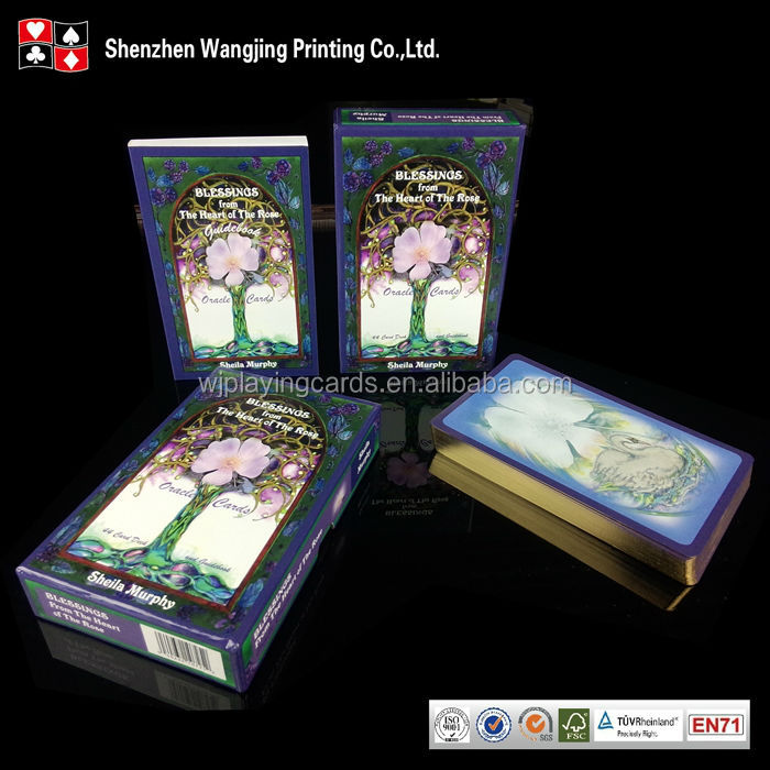 Full Color Printing Flip Box Packed Wholesale Custom Oracle Cards Tarot Cards