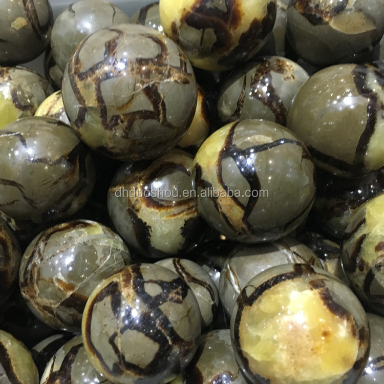 wholesale Madagascar natural septarian crystal balls mineral stone spheres