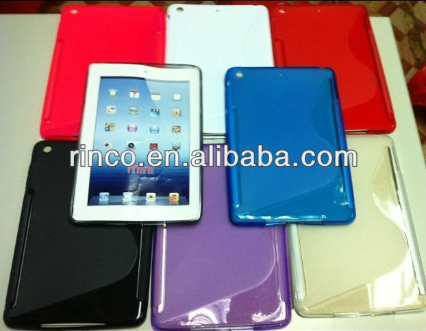 "S Line Soft Shell TPU back Case Cover for Apple Ipad MINI 7""tablet"