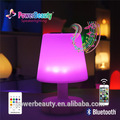 LED changing color table lamp with bluetooth speaker