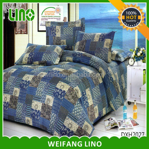 polyester ultrasonic quilting comforter sets/both sides print patchwork quilted