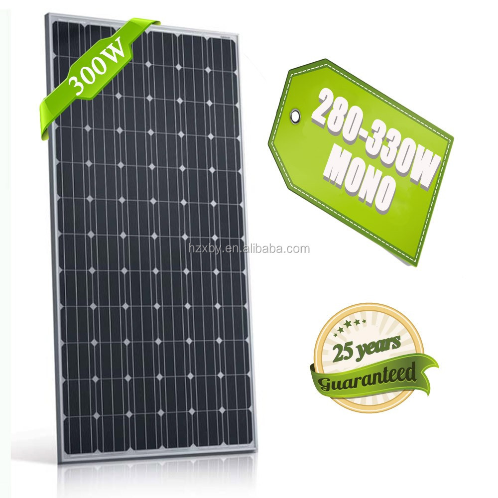 High efficiency price per watt free shipping high quality solar panel with TUV CE IEC UL certificates 300w mono
