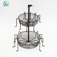 2018 Customized Spider On The Top Double-Deck Candle Holder Decoration