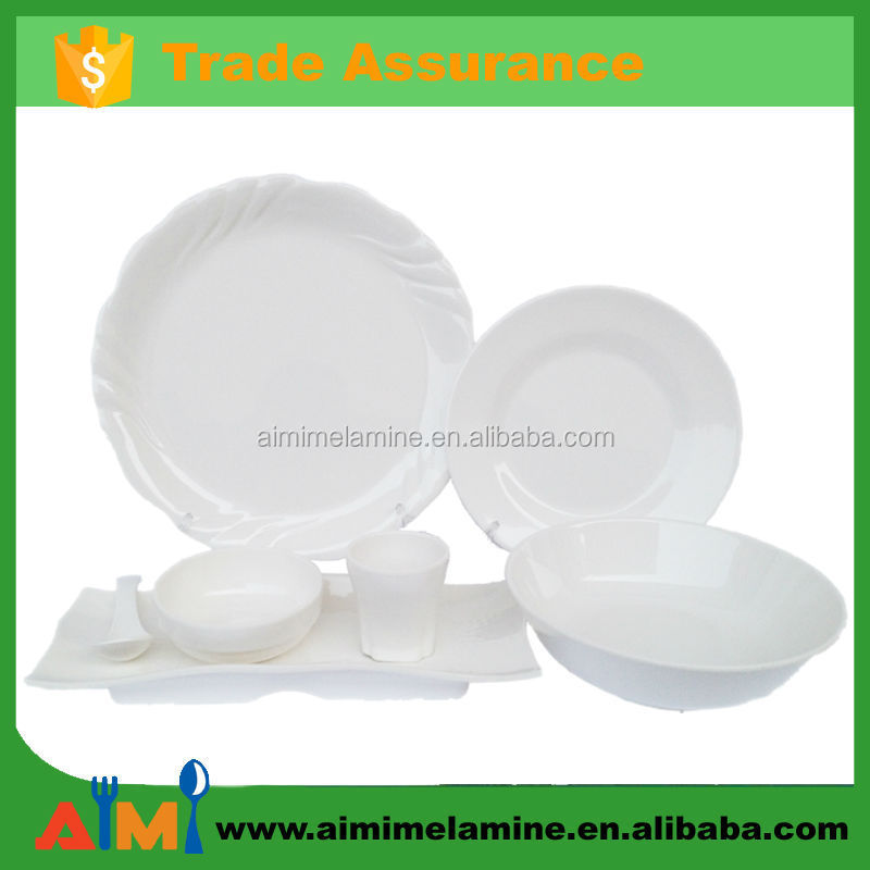 fancy hotel & restaurant Melamine crockery tableware