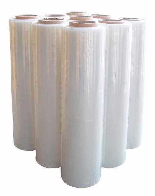 Hot sale malaysia LLDPE Material PE stretch film packaging pallet 23 micron strech film