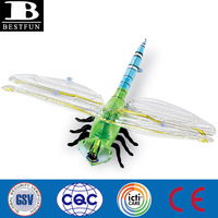 Realistic life-sized inflatable dragonfly non-toxic giant inflatable insects children toy giant plastic insect toys big inflatab