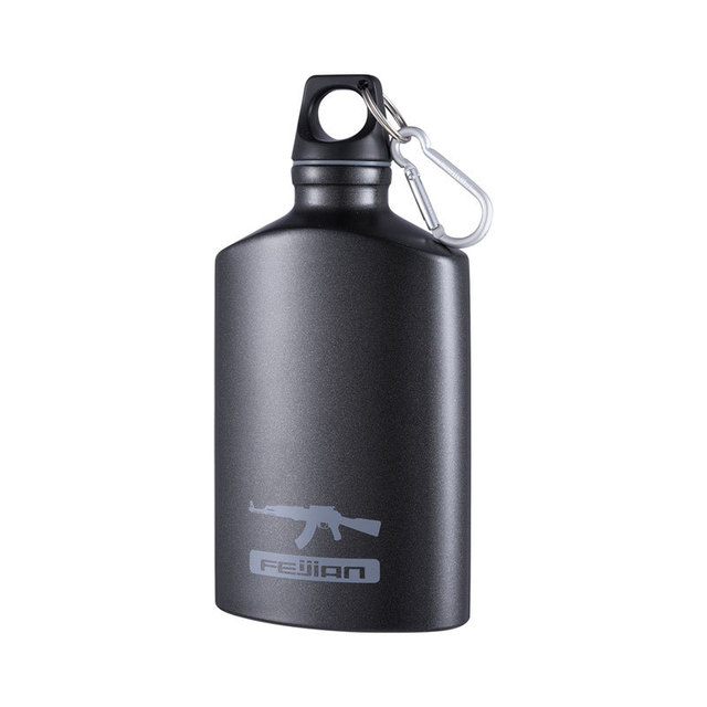 500ML Portable Army Aluminum Alloy Flask Kettle Drinkware Climb Travel Sports Bicycle My Water Bottle