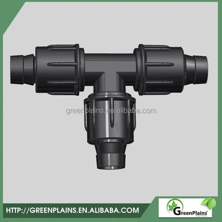 Lock tee for drip tape tee drip tape connector farm irrigation equipment