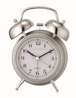 Two bell ring quartz sweep alarm clock