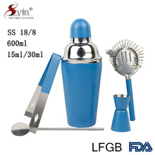 Promotional Tool Stainless Steel Barware Mini Bar Set Cocktail Shaker Set