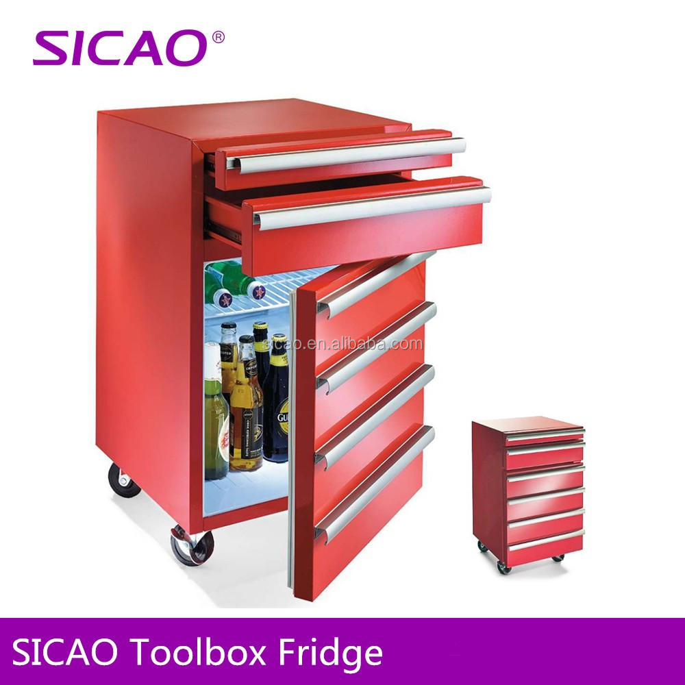 SICAO counter top mini fridge with wheels