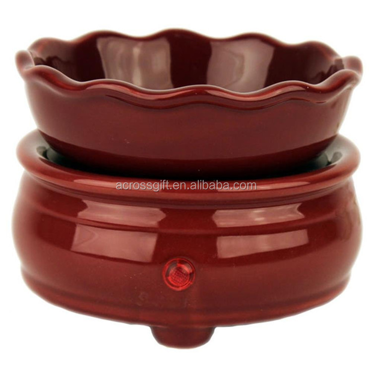 customized red color glazed wholesale electric candle wax warmers