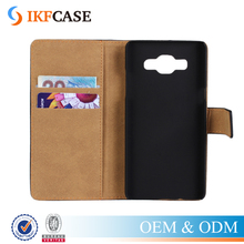Folio leather wallet phone case for Samsung a5,2 in 1 pu and pc flip phone covers