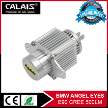 High Quality Auto Parts C r ee chips E90 LED Angel Eyes halo rings kit Led headlights Led Sider Marker for B-M-W white
