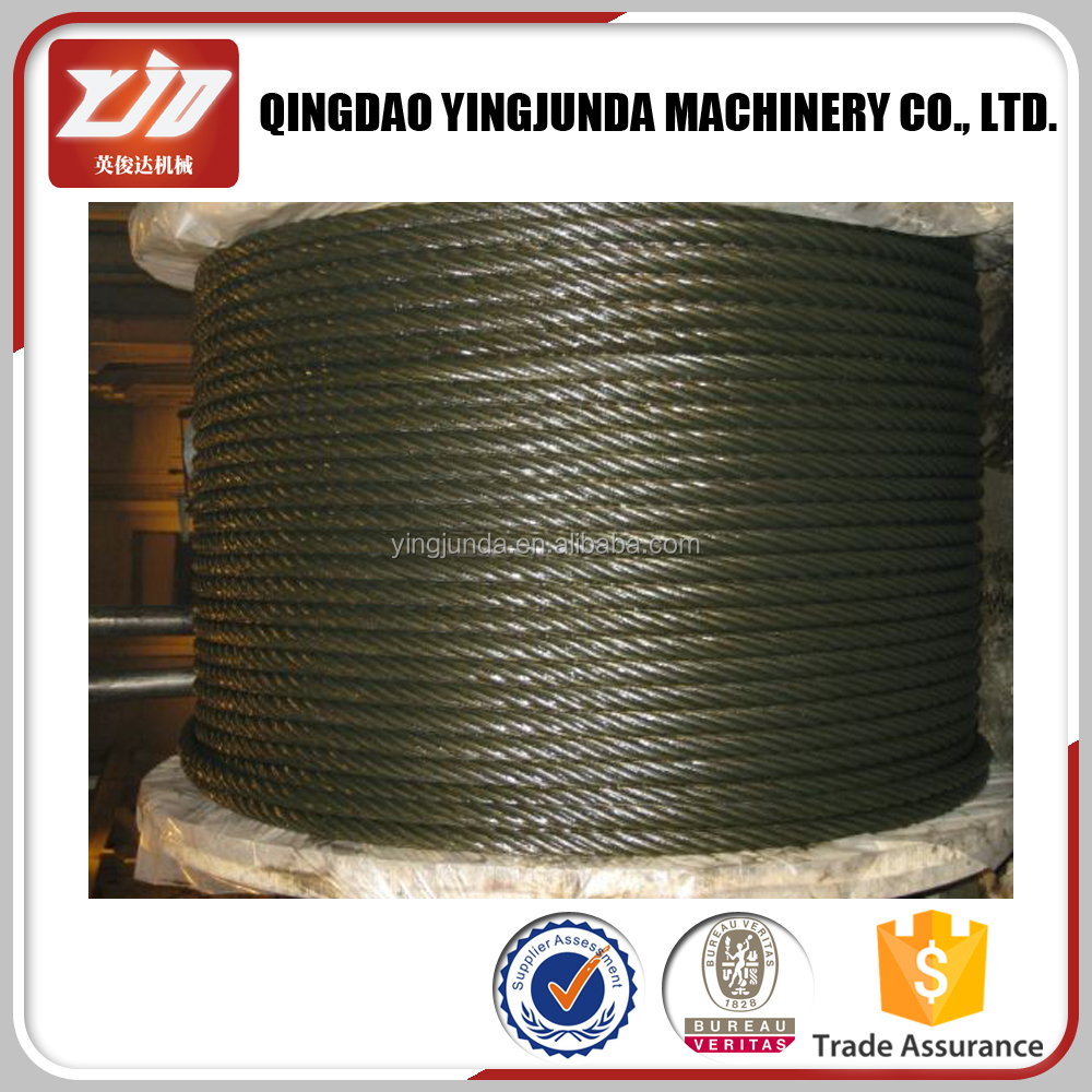 SS304 strength non rotating steel wire rope 19x7