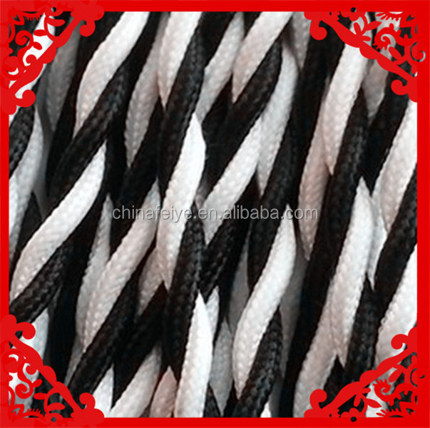 braided twisted wire,braided flexible power cable,cloth covered power cable