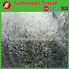 long pile plush fake fur fabric