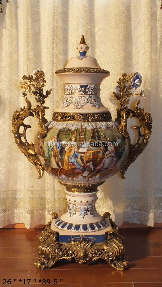 Franse barok antiek porselein huisdecoratie luxe porseleinen souvenir gifts mooie pot vaas met - Afbeelding van huisdecoratie ...