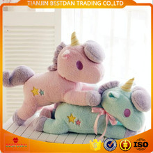 Bestdan 20cm and 55cm pink and green color custom logo <strong>plush</strong> stuffed toy unicorn