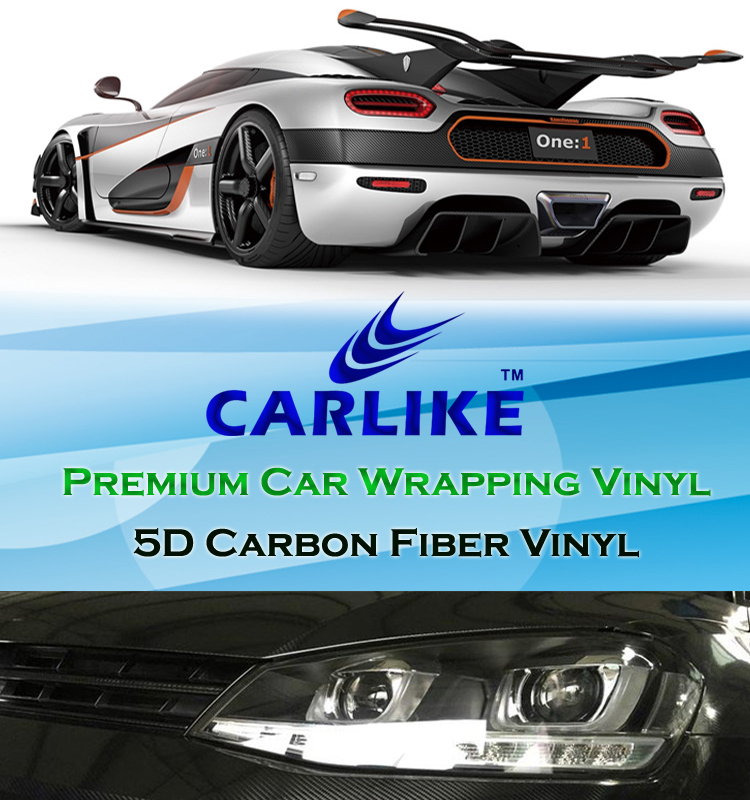 CARLIKE 2D 3D 4D 5D 6D Auto Wrap Black Car Sticker Carbon Fiber Vinyl Film