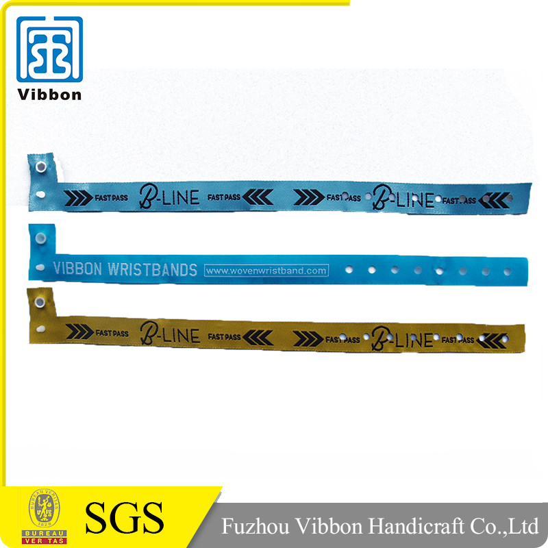 Factory Promotional Polyester Custom Festival Event Woven Fabric Wristband