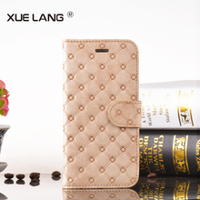 High quality leather for LG K7 cover ,for LG K7 leather multi functional stand wallet case