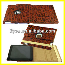 Lovely Cute Pattern 360 Rotating PU Leather Case Cover For The New iPad 2 3 4 Magnetic Sleep Wake Function Wholesale Good Price