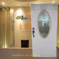 3 Steel panel entry door with oval lite external grille with High definition glass French Door