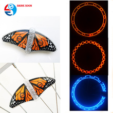 Customized Butterfly programmable bicycle LED scooter bike spoke wheel light