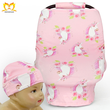 Newborn Cute Pink Unicorn Nursing Cover Wholesale Cheap Baby Car Sear Covers
