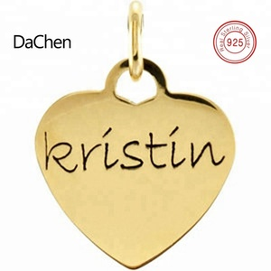 Personalized Name Jewelry Engraved Heart Shape Tags Necklace