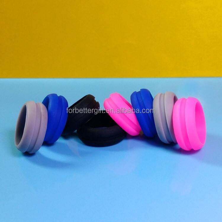 debossed silicone wedding <strong>rings</strong>, rubber line thumb <strong>rings</strong>, silicone <strong>rings</strong> with custom design