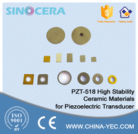 piezo electric vibration sensor usage PZT Piezoelectric Ceramic Material