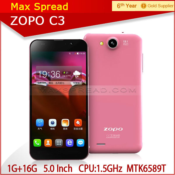 quad core 1.5ghz android 4.2 smart phone ZOPO C3 hot spot 13MP new smallest cell phone