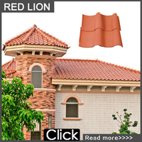 Orange red plastic spanish roof tiles S1 (hongtai)