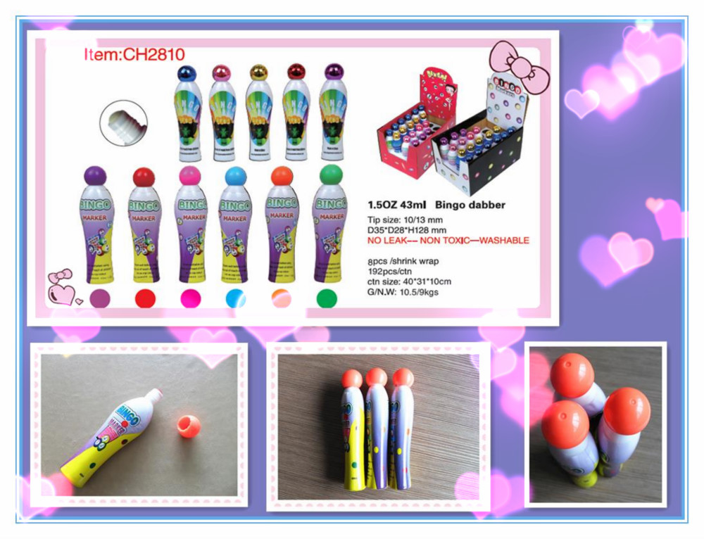 1.5 oz/13mm, Free sample bingo pen & Novelty Dabber CH2809