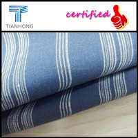 Customized Hot-sell Cotton Dark Blue Stripe Shirting Plain Weave Fabric for Garments/Light Weight Cotton Lining Fabric