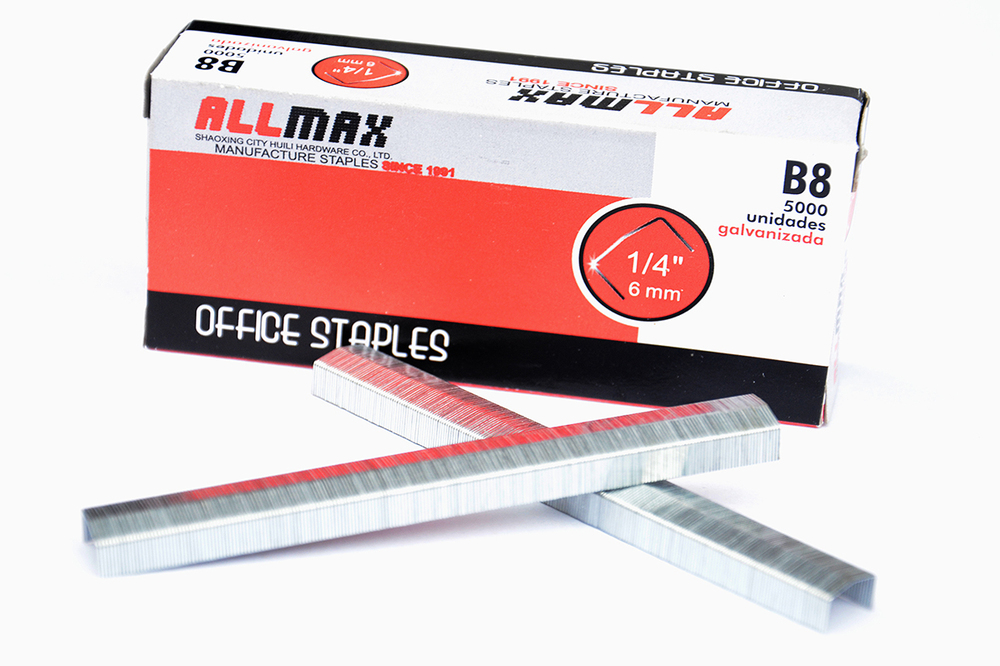 SXHL ISO9001 Factory exporting standard galvanized wire office stationery 4-14mm staples