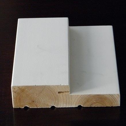 Primed finger joint solid wood decorative door frame buy for Finger joint wood doors