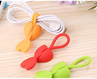 Silicone heart shaped multifunction earphone cable tidy