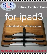 Hot Bamboo case for ipad3 natual wood case for ipad3 IBC063