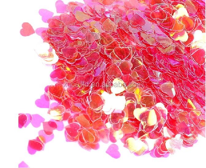 2017 RAINBOW HEART SHAPED SEQUINS WHOLESALE